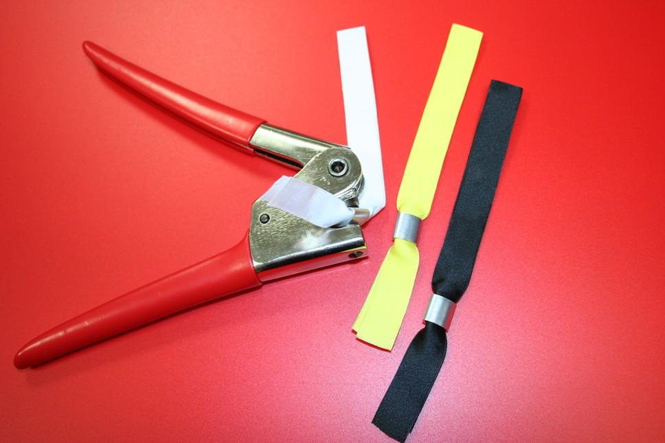 Bracelets tissu bague aluminium Bracelets tissu bague aluminium